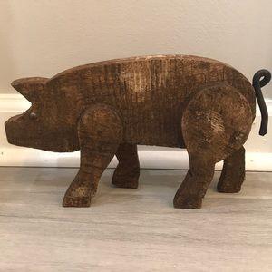Wooden Pig Decor